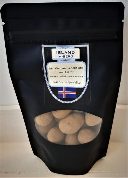 Mandeln mit Schokolade und Lakritz 100 g