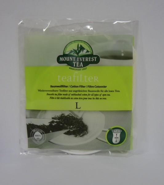 Teefilter aus Baumwolle L