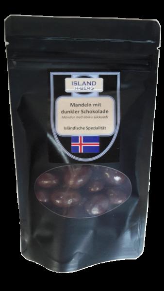 Mandeln mit dunkler Schokolade 100 g